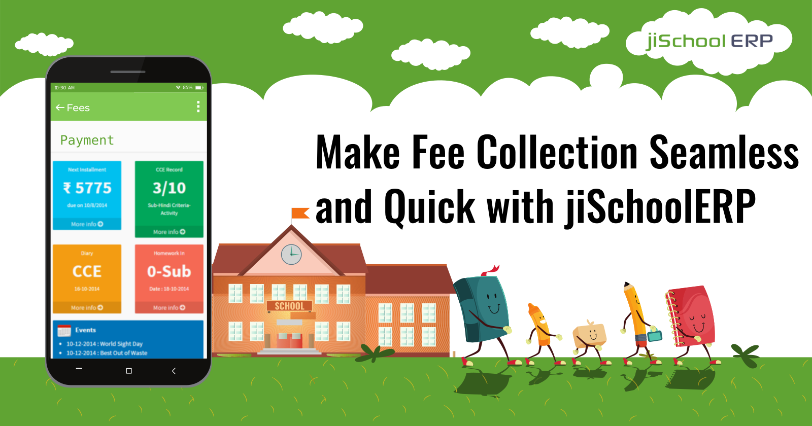 Make Fee Collection Seamless and Quick with jiSchoolERP