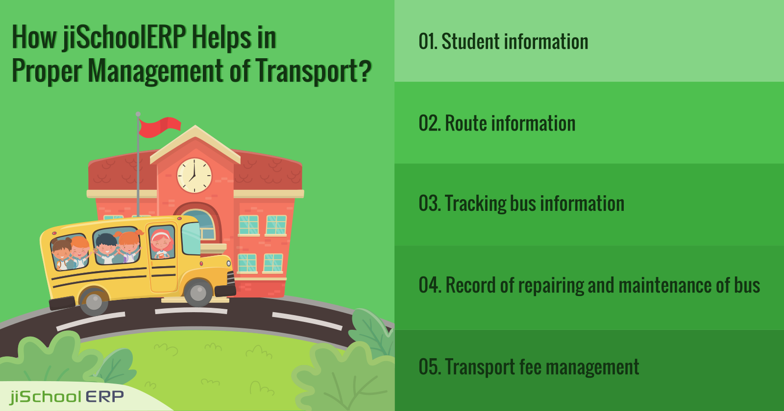 How jiSchoolERP Helps in Proper Management of Transport?